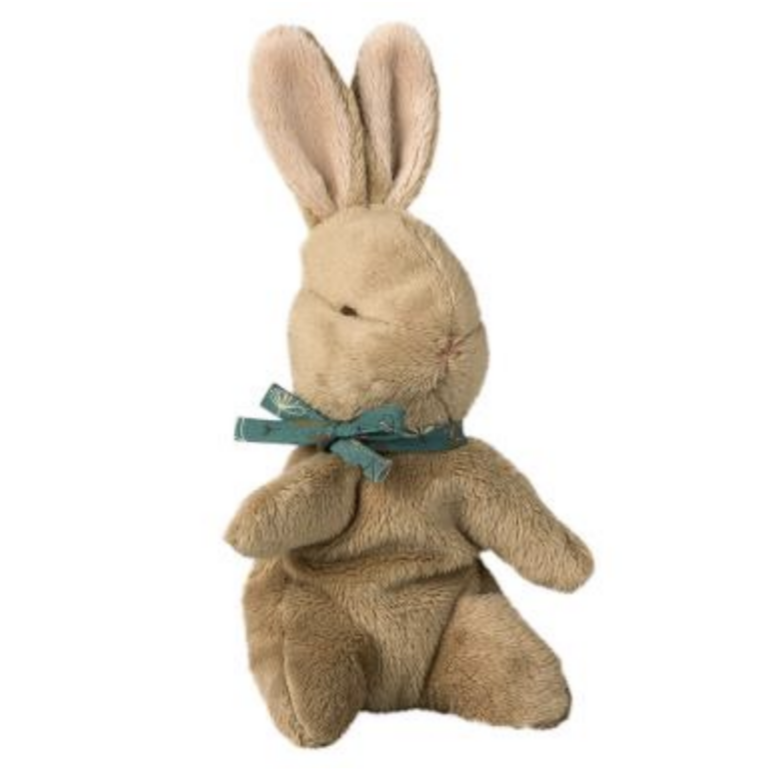 Baby Bunny with Blue Ribbon