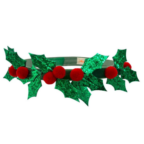 Glitter Holly Crown