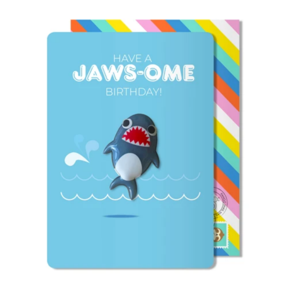 Jaws-ome Birthday Magnet Card -Birthday