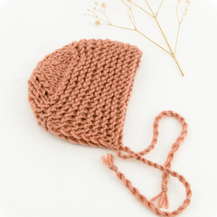 "Knit Beanie: fits 12"" Miniland Doll"