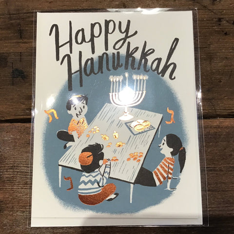 Happy Hanukkah Card -Hanukkah