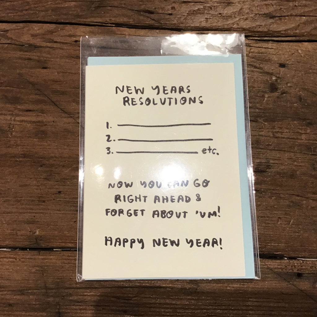 New Years Resolutions Card -New Year