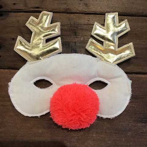 Fabric Reindeer Mask