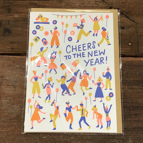 Cheers To The New Year Card -New Year