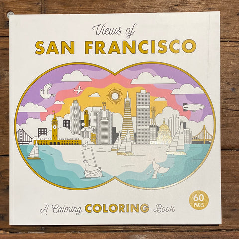 Views of San Francisco Coloring Book