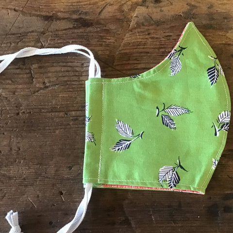 Minor Thread Face Mask Green Leaf -Large