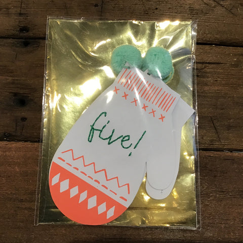Hi Five Season's Greetings Card -Holiday