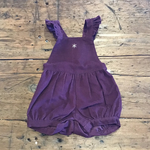 Baby Bubble Mulberry Corduroy Romper