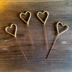 Mini Heart Sparklers