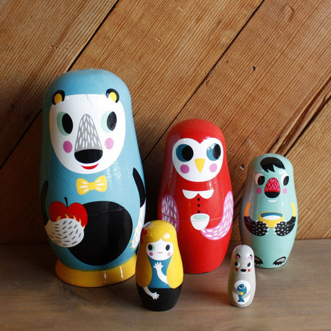 Into the Woods Nesting Dolls