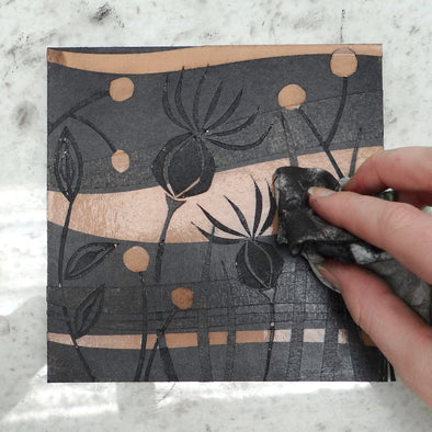 Printing an Easy Card Cut Collagraph