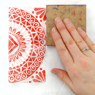How to Block Print with Lino onto Fabric – Handprinted