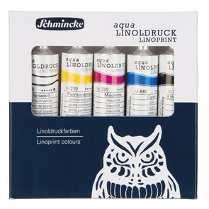 Schmincke Aqua Linoprint Ink - 20ml - Set of five