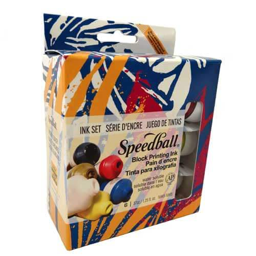 Speedball Block Printing Ink - Set of 6 Inks