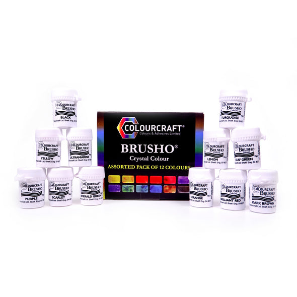 Brusho Assorted Pack - 12 Colours