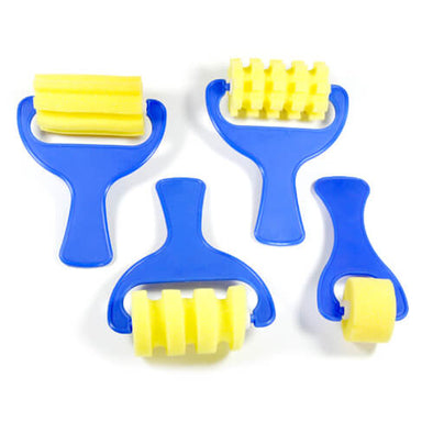Patterned Foam Rollers - Set of Four