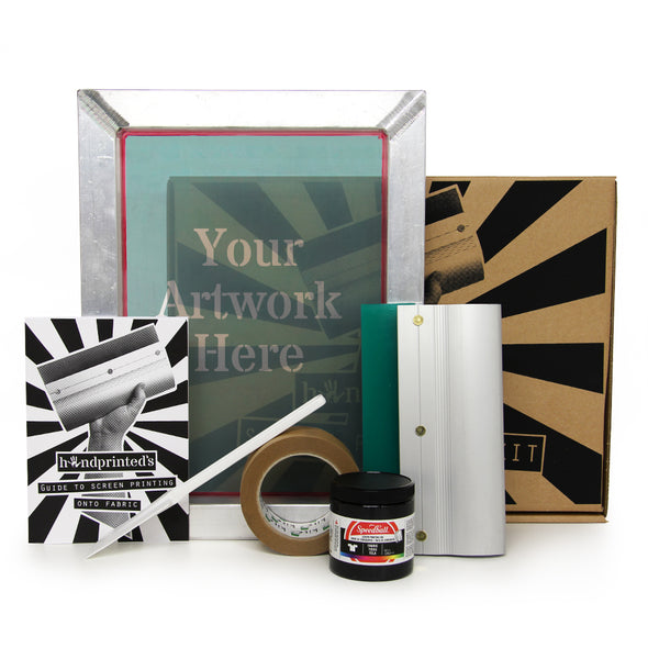 Handprinted Exposed Screen Printing Kit for Fabric