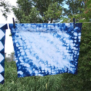 Fab Friday - Stitched and Tied Indigo Shibori - 3rd April 2020