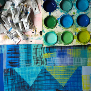 Exploring Pattern & Painting on Textiles with Sarah Campbell - 2 day course - Sat 23 & Sun 24 October 2021