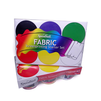 Speedball Fabric Screenprinting Starter Set of Six Inks