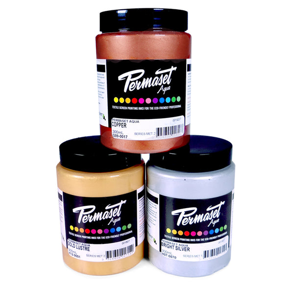 Permaset Aqua Metallic Textile Screen Printing Ink