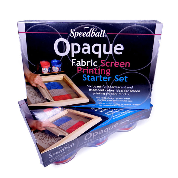 Speedball Opaque Fabric Screenprinting Set of Six Inks