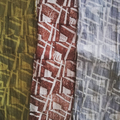 Block Printing with Natural Dyes with Sarah Burns - 2 day course - Thurs 15th & 22nd April 2021