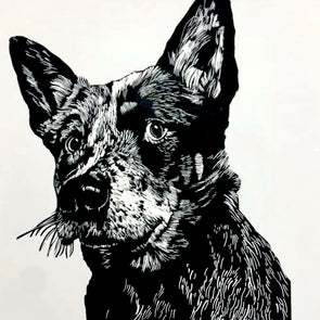 Linocut Pet Portrait with Ian Mowforth - Sat 9th May 2020