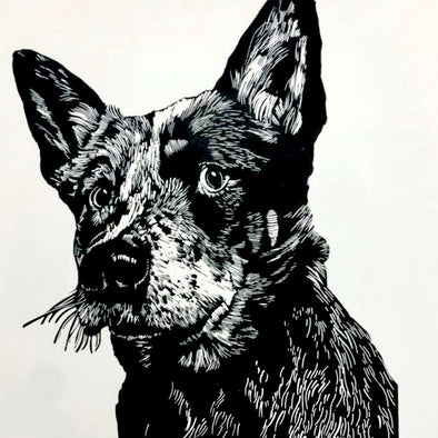Linocut Pet Portrait with Ian Mowforth - Sat 12th June 2021