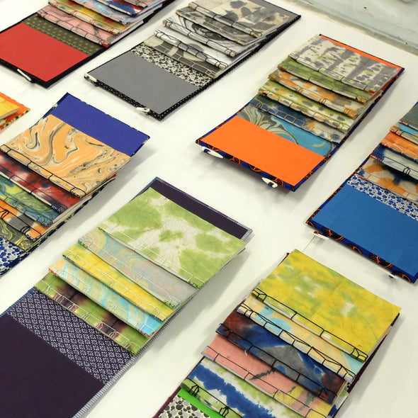 Japanese Paper Dyeing and Bookbinding with Lucy May Schofield - Monday 22nd & Tuesday 23rd February 2021