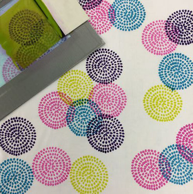 Fab Friday - Repeat Pattern Thermofax Printing - 12th June 2020
