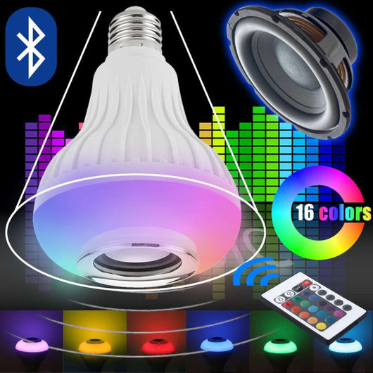 [BUY 1 TAKE 1 FREE ] LED MUSIC BULB BLUETOOTH LED LIGHT LAMP SPEAKER
