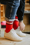 STRIPED Socks, Rot