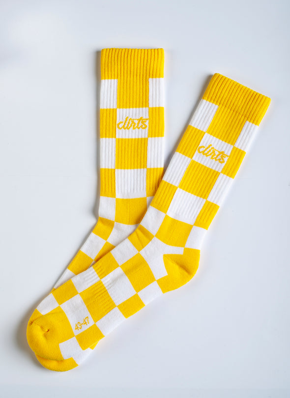 CHECKER Socks, Gelb