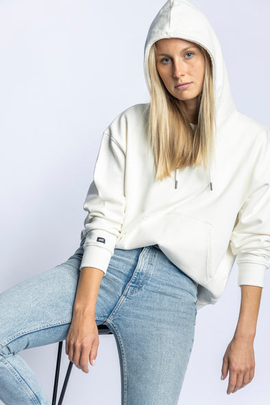 Organic Oversize Hoodie Ladies, Off-White