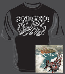 Graves At Sea / Sourvein - Split CD / T-Shirt Bundle (SOURVEIN SHIRT)