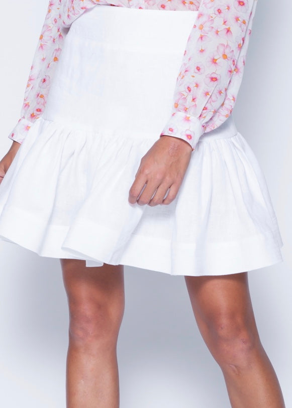 Lily Solid Linen Skirt