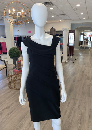 Tiered Black Dress