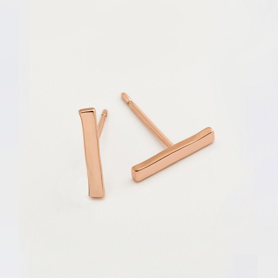Rosegold Taner Bar Mini Studs