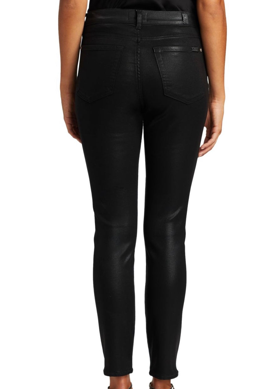 Coated High Waist Ankle Skinny