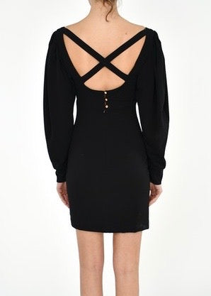X Back Mini Dress