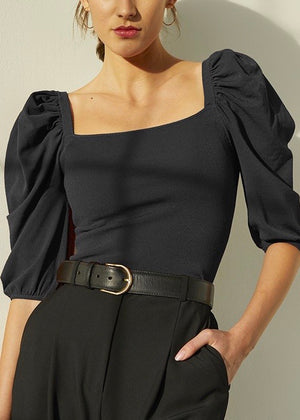 Square Neck Puff Sleeve