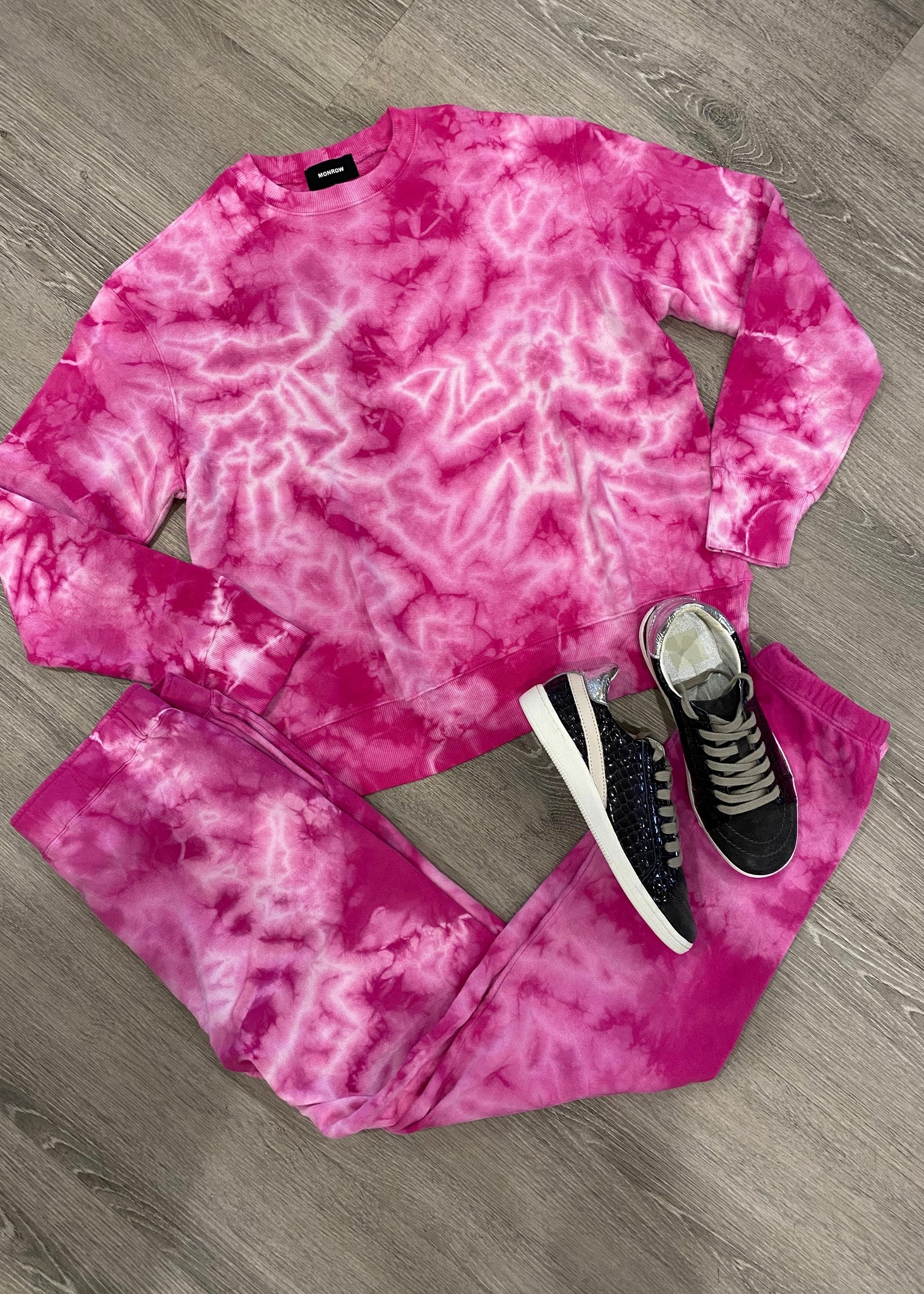 Crystal Tie Dye Boyfriend Sweat Pants
