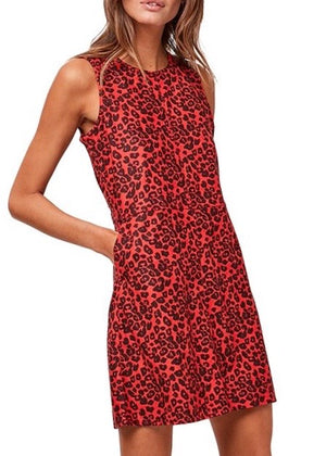 Lipstick Safari Vegan Suede Dress