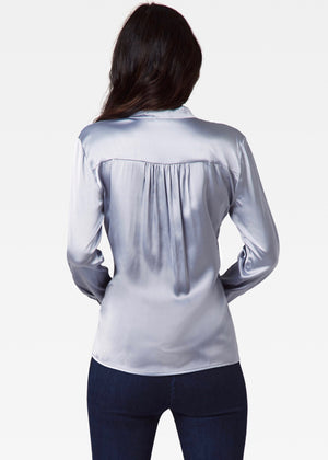 Weaver Blouse with Removable Tie