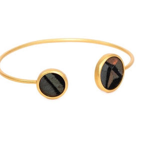 Bays Feather Bezel Cuff