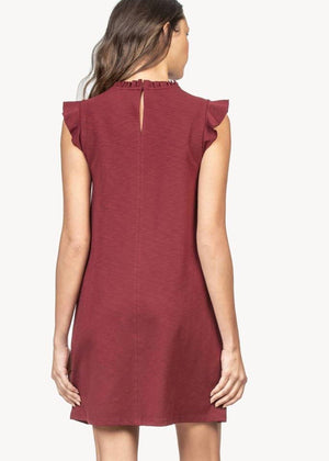 Ruffle Neck Dress