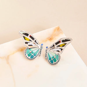 Mixed Butterfly Stud Earring