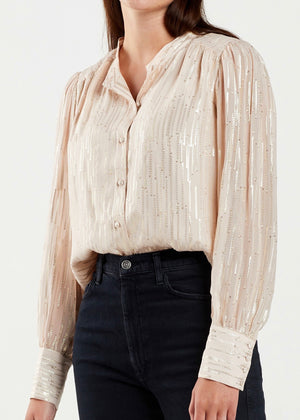 Elena Metallic Clip Blouse