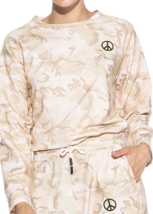 Long Sleeve Camo Sweatshirt